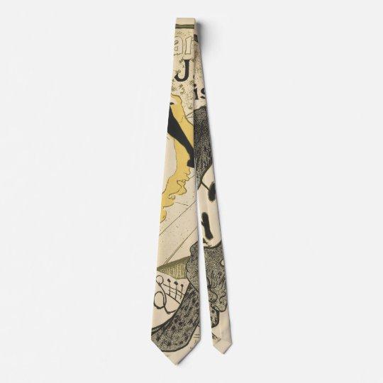 Art Nouveau Dancer Jane Avril, Toulouse Lautrec Tie