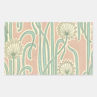 art nouveau dandelions art stickers