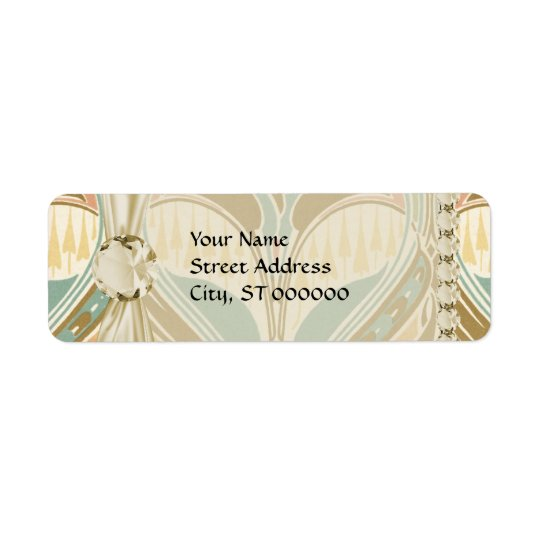 art nouveau decorative bliss pattern return address label