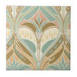 art nouveau decorative bliss pattern small square tile