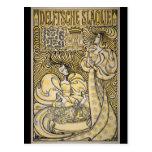 Art Nouveau Delftsche Slaolie Delft Postcard