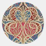 Art Nouveau Design #10 at Emporio Moffa Round Sticker