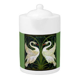 Art Nouveau Double Swan Classic Teapot