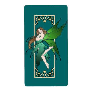 Art Nouveau Fairy Shipping Label