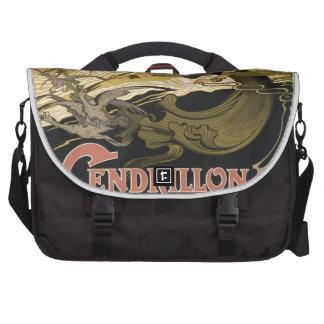 Art Nouveau fairy tale illustration cinderella Bags For Laptop