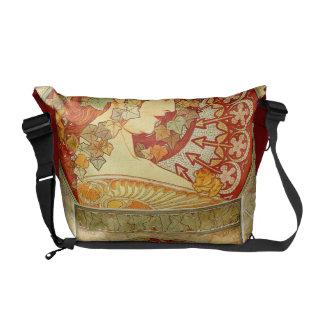 Art Nouveau Famous Poster Design Rickshaw Bag Messenger Bags