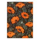 Art Nouveau 'Field Poppies' Card