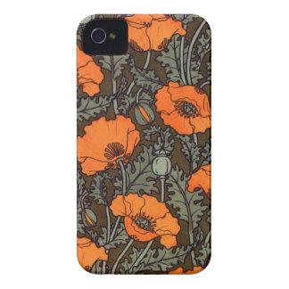 Art Nouveau Field Poppies Case-Mate iPhone 4 Cases