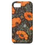 Art Nouveau Field Poppies iPhone 5/5S Case