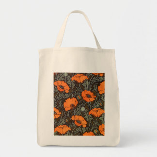 Art Nouveau 'Field Poppies' Tote Bag