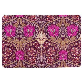 Art Nouveau Floral, Plum, Beige and Deep Purple Floor Mat