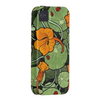 Art Nouveau Floral Vibe iPhone 4 Case