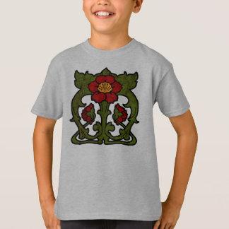 Art Nouveau Flower Motif T-Shirt