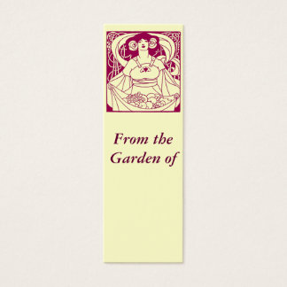 Art Nouveau Garden Label Mini Business Card