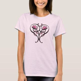 art nouveau heart_pink flora T-Shirt