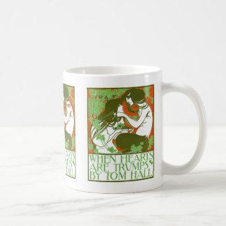 Art Nouveau Illustration - When Hearts are Trumps Basic White Mug