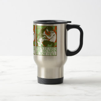 Art Nouveau Illustration - When Hearts are Trumps Stainless Steel Travel Mug