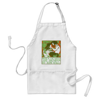 Art Nouveau Illustration - When Hearts are Trumps Standard Apron