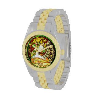 Art Nouveau inspired wrist watch