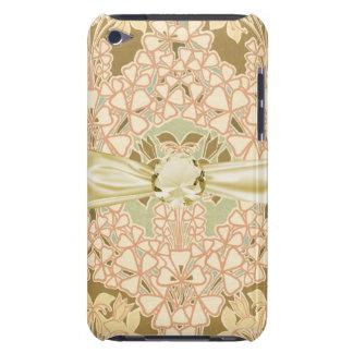 art nouveau intricate floral brown pattern iPod Case-Mate case
