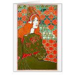Art Nouveau ~ Jane by Louis John Rhead Greeting Card
