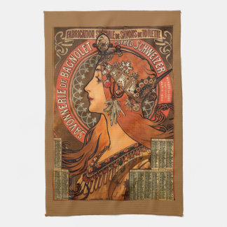 Art Nouveau Jeweled Lady Kitchen Towel
