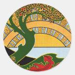 Art Nouveau - La Libre Esthetique by Combaz Round Sticker
