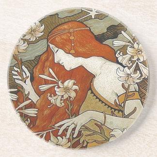 Art Nouveau Lady Coaster