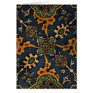 Art Nouveau l'Art Arabic Greeting Card