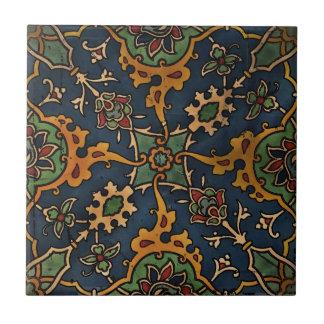 Art Nouveau l'Art Arabic Small Square Tile