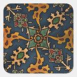 Art Nouveau l'Art Arabic Square Stickers