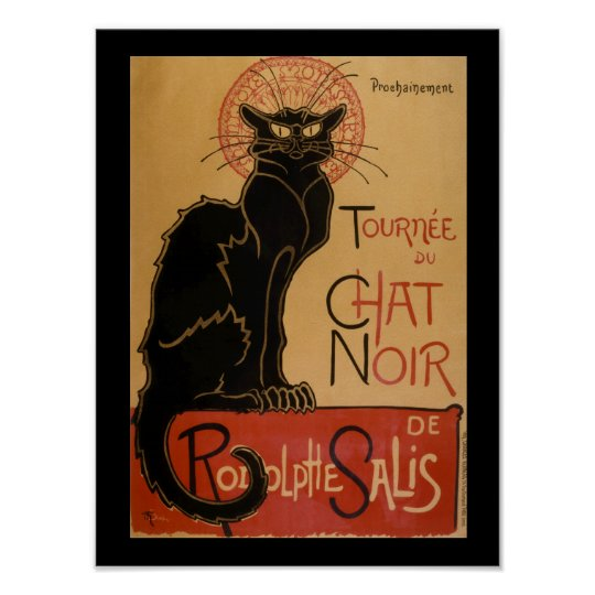Art Nouveau Le Chat Noir Vintage Black Cat