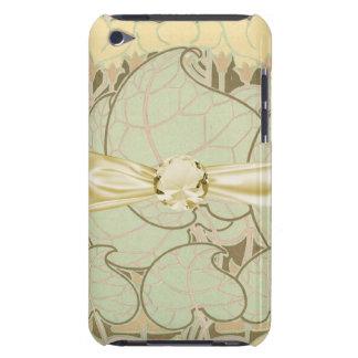 art nouveau leaves and floral vintage art iPod touch case
