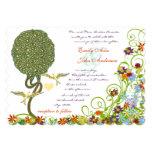 Art Nouveau Love Bird Rustic Tree Wedding Personalised Invite