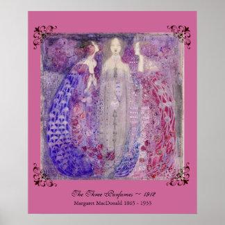 Art Nouveau MacDonald The Three Perfumes 1912 Poster