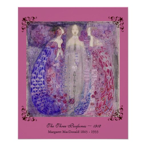 Art Nouveau MacDonald The Three Perfumes 1912 Poster