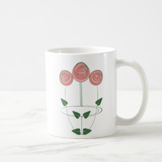 Art Nouveau Mackintosh Roses Motif Coffee Mug