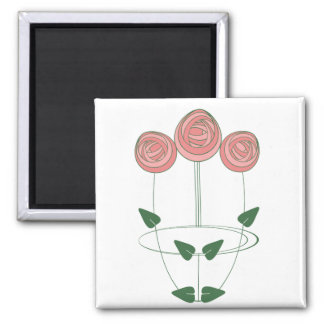 Art Nouveau Mackintosh Roses Motif Magnet