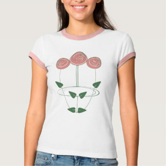 Art Nouveau Mackintosh Roses Motif T-Shirt