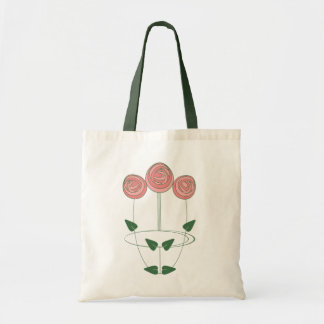Art Nouveau Mackintosh Roses Motif Tote Bag
