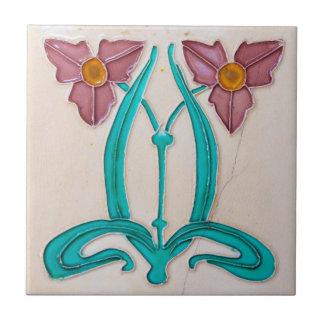 Art Nouveau Majolica Tiles