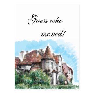 Art nouveau mansion postcard