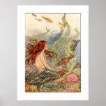 Art Nouveau Mermaid Poster/print  18x24
