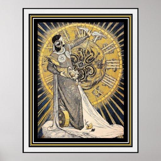 Art Nouveau Mother Nature 16 x 20 Poster