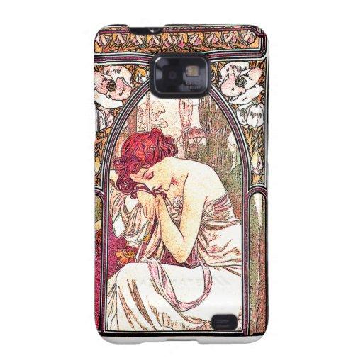 Art Nouveau Mucha Lady Samsung Galaxy Case Samsung Galaxy S2 Covers