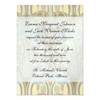 art nouveau nature beauty pattern personalized invites