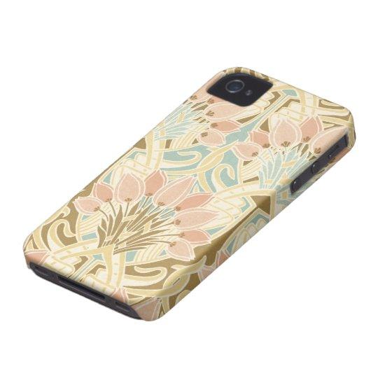 art nouveau nature floral pattern art iPhone 4 case