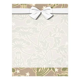 art nouveau neutral nature floral design 21.5 cm x 28 cm flyer