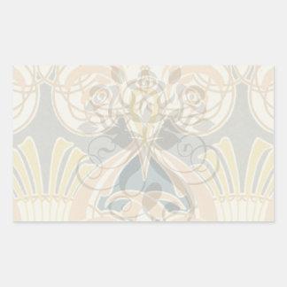 art nouveau ornate royale design stickers