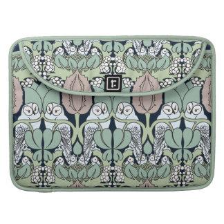 Art Nouveau Owl Nest Pattern Macbook Pro Sleeve